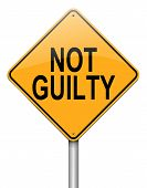 picture of gullible  - Illustration depicting a roadsign with a not guilty concept - JPG