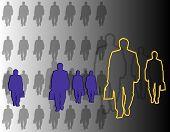 Business Team Figures Walking