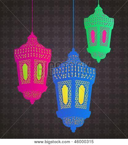 Hanging islamic lantern design