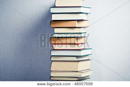 Very High Stack Of Books
