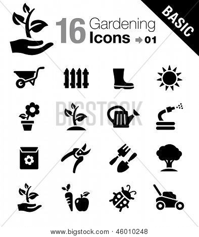 Basic - los iconos de jardinería