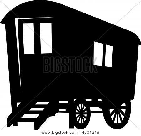 Wagon Silhouette