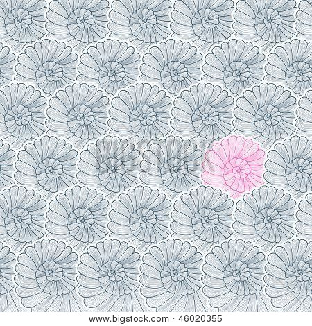 Vector background pattern of snail