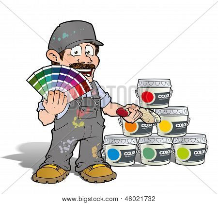 Handyman - Colour Picking Painter - Gray