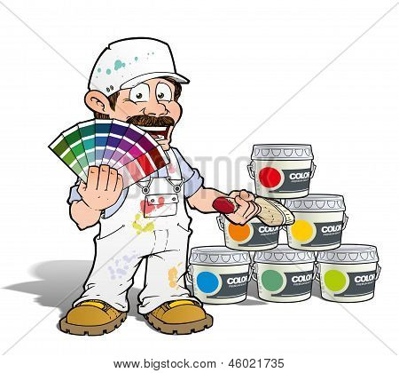 Handyman - Colour Picking Painter - White