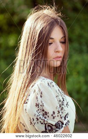 Beautiful Long-haired Girl