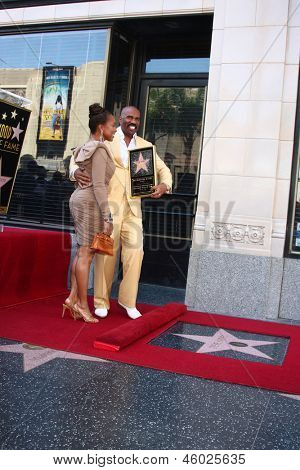LOS ANGELES - MAY 13:  Marjorie Bridges Harvey, Steve Harvey at the Steve Harvey Hollywood Walk of Fame Star Ceremony at the W Hollywood Hotel  on May 13, 2013 in Los Angeles, CA