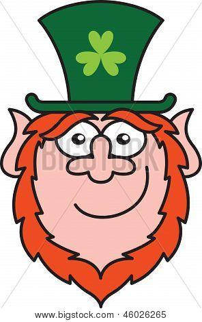 Shy Saint Patrick's Day Leprechaun