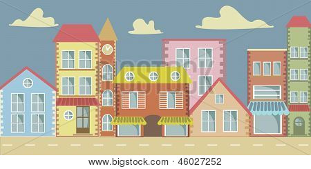 Vector Cartoon Town