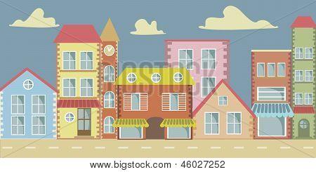 Vector Cartoon Town