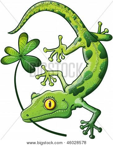 St Patrick's Day Gecko