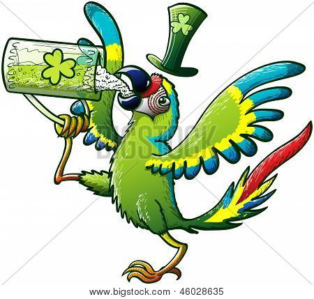 Saint Patrick's Day Parrot