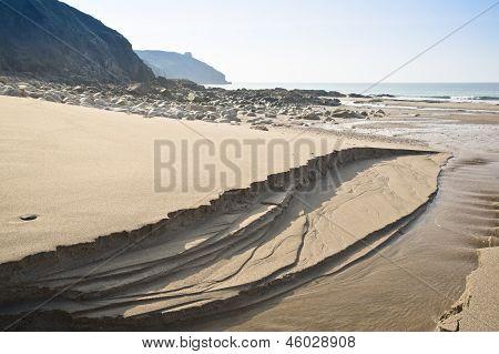 Expanse of golden beach at Praa Sands