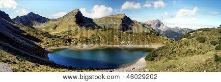 Lake in the Tannheim Mountains