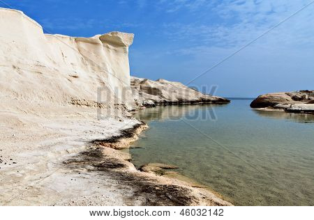Sarakiniko beach at Milos island