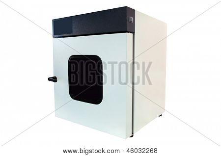 machine for washing of laboratory test tubes isolated under a white background