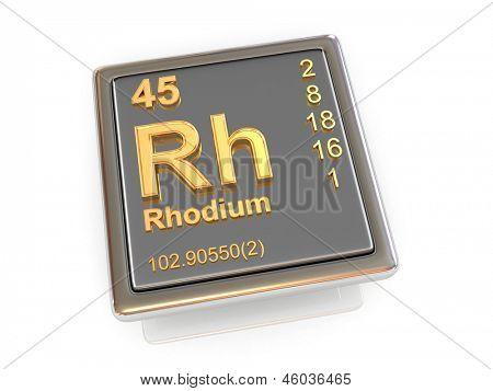 Rhodium. Chemical element. 3d