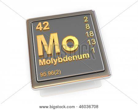 Molybdenum. Chemical element. 3d