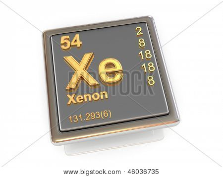 Xenon. Chemical element. 3d