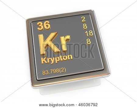 Krypton. Chemical element. 3d