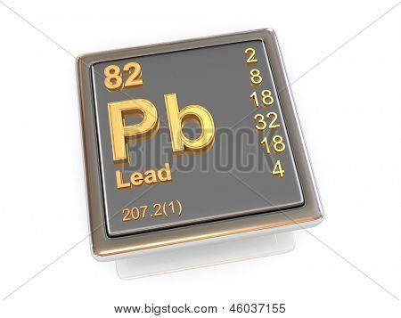 Lead. Chemical element. 3d