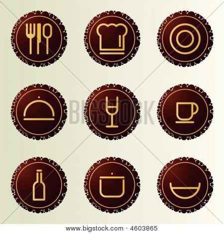 Dinner icons