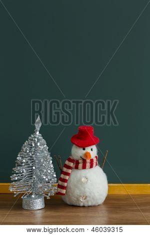 Blackboard and Christmas goods