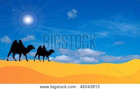 Vector Desert Landscape