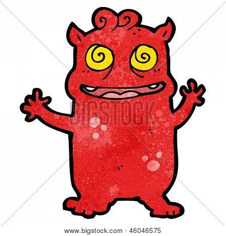cartoon cray little monster