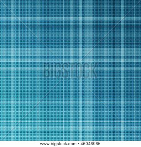Blue striped background.