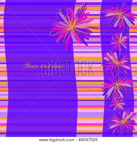 Striped Floral Background