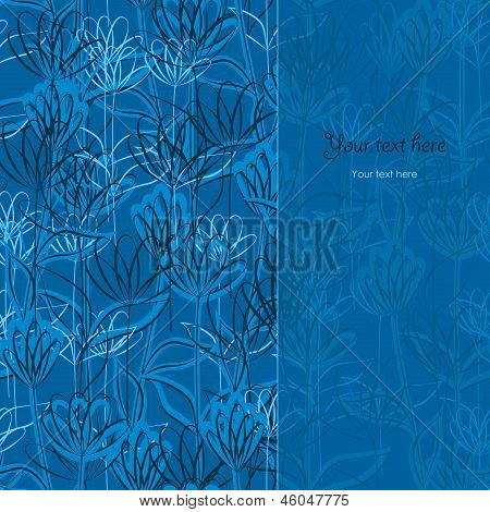 Delicate Blue Floral Background