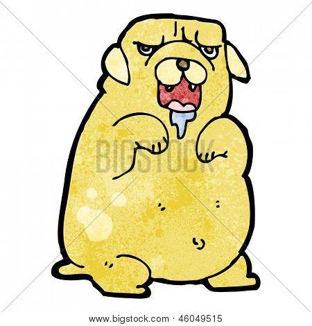cartoon slobbering dog