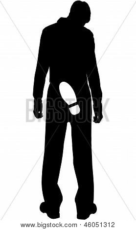 Vector Silhouette - Dismissed From Work Young People