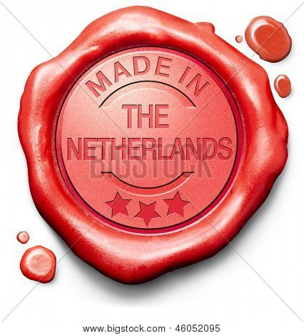 made in The Netherlands original product buy local buy authentic Holland quality label red wax stamp seal
