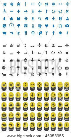 Vector abstract sets of icons  for website, eshop or print
