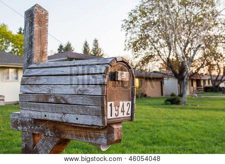Vintage Wooden Mailbox