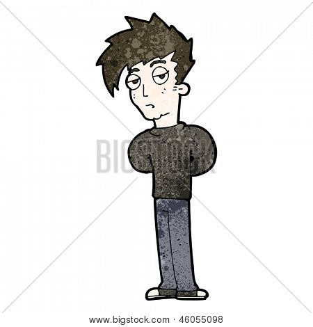 cartoon jaded teen
