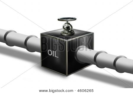 Oil Pipeline With Control Valve