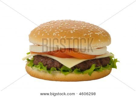 Isolated Burger
