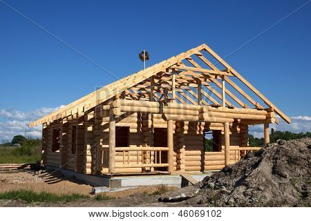 House Built From Logs