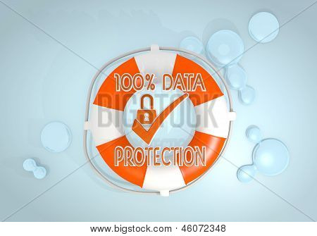 data protection icon rescued by a lifesafer