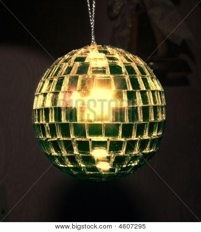 Gold Disco-Kugel