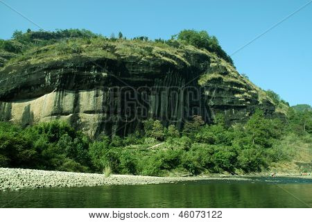 Mountain Natural Landscape, Wuyi Mountain, Fujian Province, China