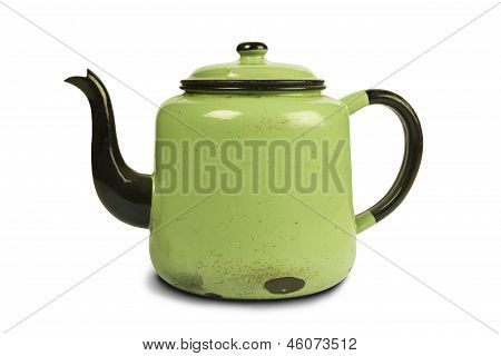 Antique Green Kettle