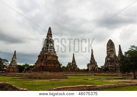 Wat Chaiwatthanaram Temple In Ayutthaya