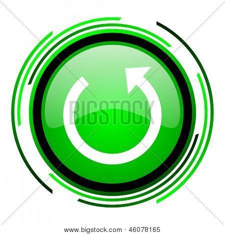 rotate green circle glossy icon