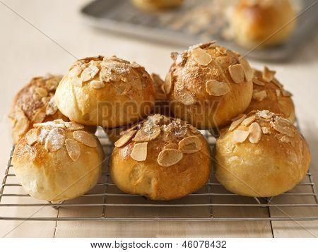 Golden Almond Buns
