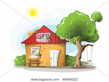 Cosy cartoon house