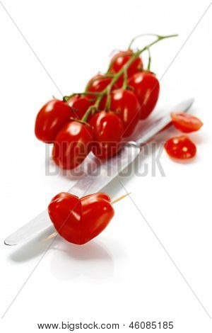 tomato heart - healthy eating concept
